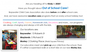 Out of School And Vacation care information session